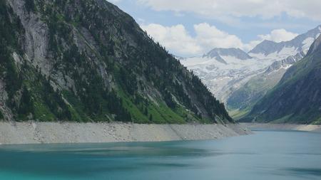 beautiful blue lake between mountains Stock fotó