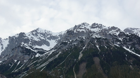 snow on the peaks of the Alps in Europe