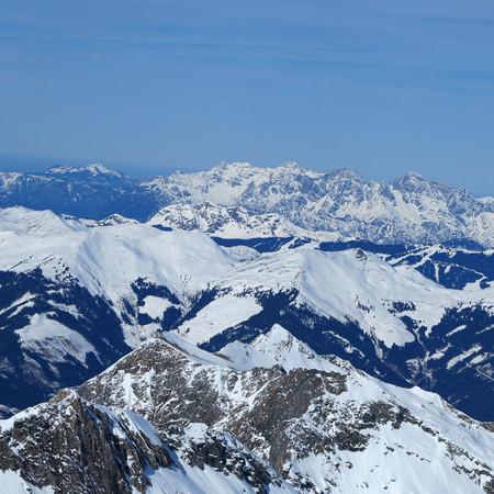 Peaks of the Alps in Europe Stock fotó