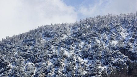 The first snow in the mountains
