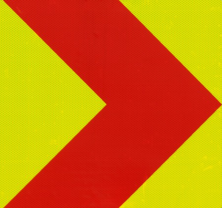 necessarily: Traffic sign Red Right Arrow