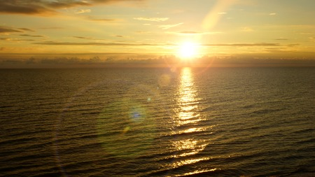 artificially: beautiful sunset on the Baltic Sea in Europe Stock Photo