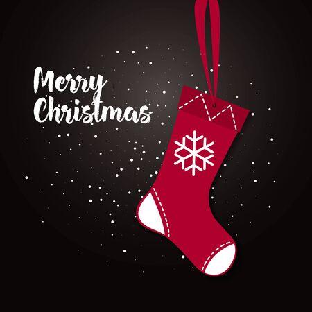 illustratie van glanzende rode kerstsok met gave cadeautjes. Kerstsokken pictogram