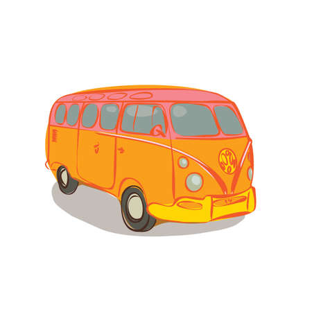 vw: vintage car Illustration