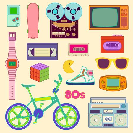 casette: 80s Retro lifestyle objects