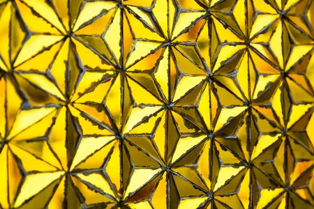 wat traimit: Gold texture with mosaic pattern in Wat Traimit. Bangkok, Thailand. Selective focus