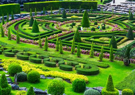 tropical garden: Nong Nooch Tropical Garden in Pattaya, Thailand. Selective focus