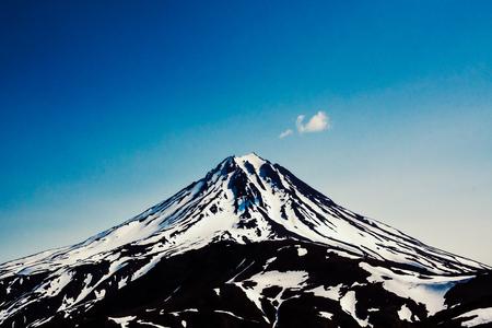 View on Viluchinskiy volcano, Kamchatka, Russia. Selective focus