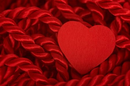 abstract background: Heart with red rope