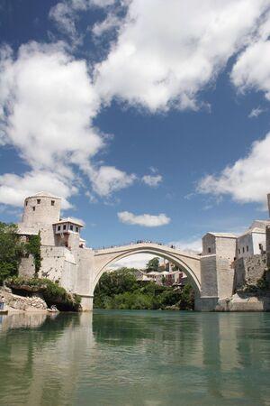 mostar: Mostar - old bridge Stock Photo