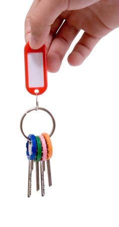 doorkey: Mano di chiavi con tag vuoto