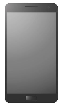 smart phone: blacke realistic smart phone Stock Photo