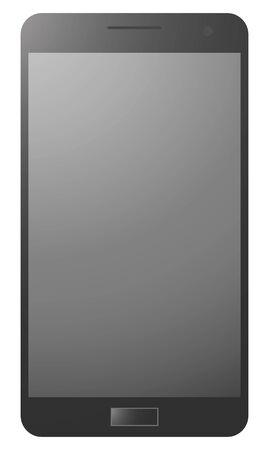 smart phone: blacke realistic smart phone Illustration