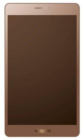 golden realistic smart phone Фото со стока