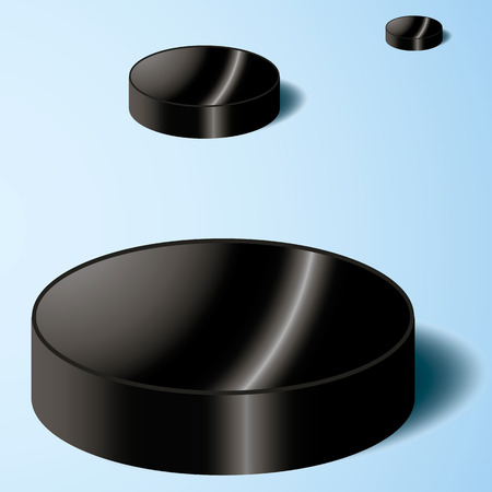 the puck: hockey puck on ice