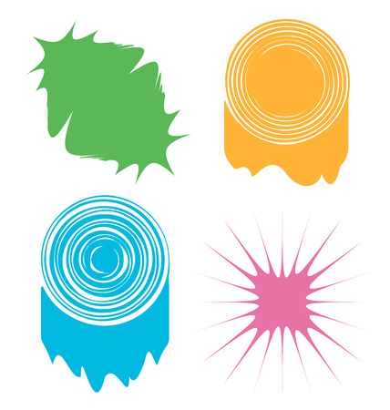 blots: a set of four abstract colored blots