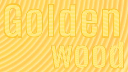tree with the inscription Golden Wood Ilustração