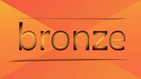 emphasized: bronze inscription emphasized on yellow Illustration