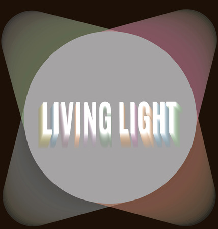 searchlights: Four searchlights around the living light lettering in blurring