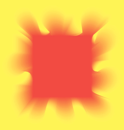 red smoke: red smoke square on a yellow background Illustration