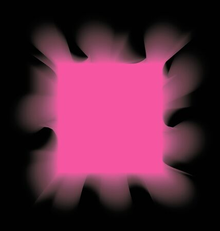 igniting: square pink smoke on a black background