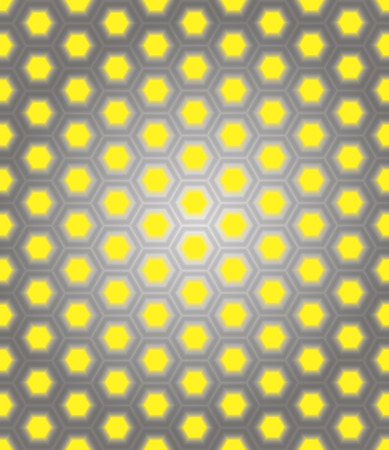 metal honeycomb on a yellow background