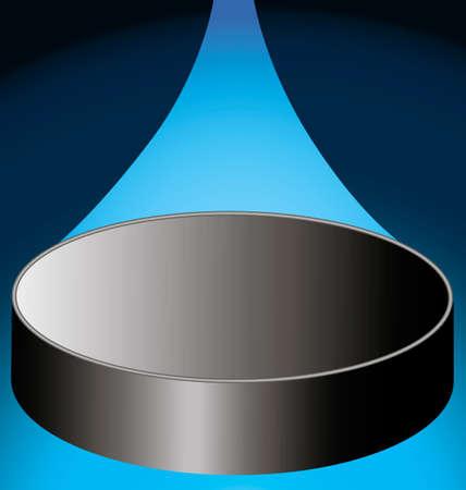 puck: flying hockey puck on a dark blue background