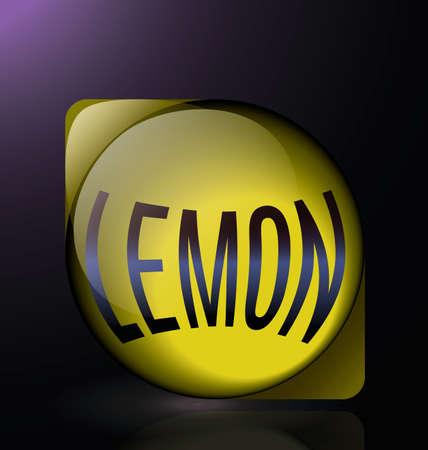 glass reflection: lemon glass reflection blue text logo