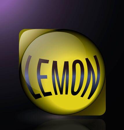glass reflection: lemon glass reflection blue text logo yellow