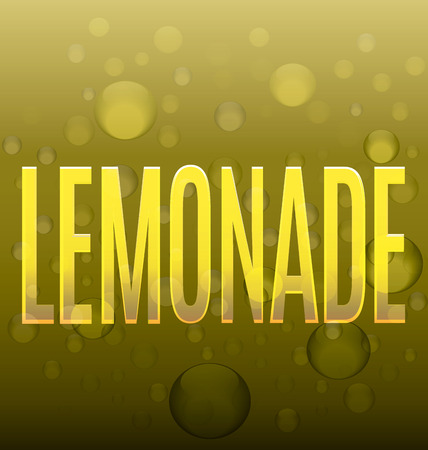 lemonade: lemonade yellow text bubbles abstract silhouette beverage