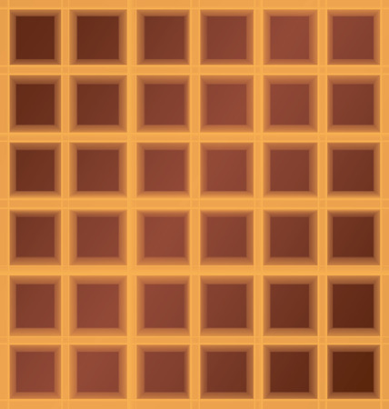 waffle: square waffle cell six by six background