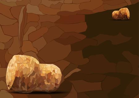 cork: two champagne cork lie on a dark background mosaic Illustration