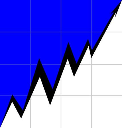Up Arrow stylized Estonian flag Mesh economy Illustration