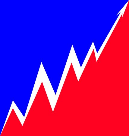 french flag: Up Arrow stylized French flag economy progress