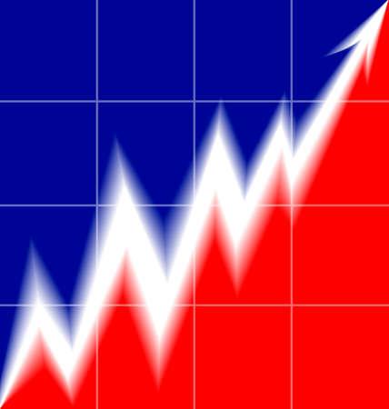 french flag: Up Arrow stylized French flag blur mesh Illustration