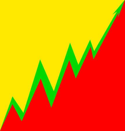 Up Arrow stylized Lithuanian flag economy progress