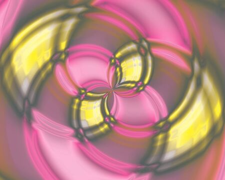 Abstract color swirl, Vortices in the center, yellow and pink