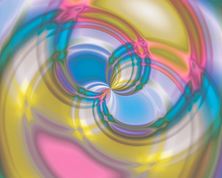 Abstract color swirl, Vortices in the center