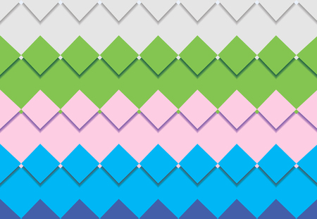 colorful square mosaic vector background corner design