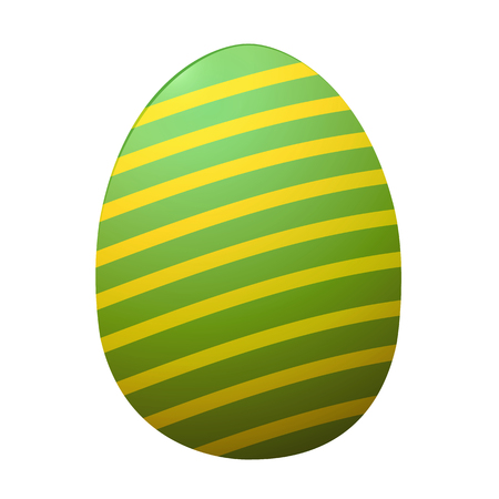 painted Easter eggs, on white background, isolated