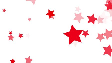 explosion of red stars on white background, fly apart