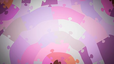 multi-colored concentric puzzle, close up, pink shades Imagens