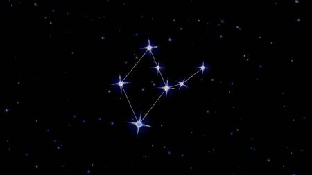 constellation of the zodiac virgo, stars on a black background, starry sky Imagens