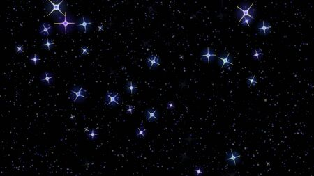 flashing stars, starry sky appear and disappear on a black background 版權商用圖片