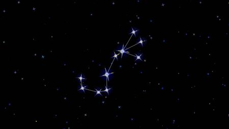 constellation zodiac scorpio, stars on a black background starry sky Imagens