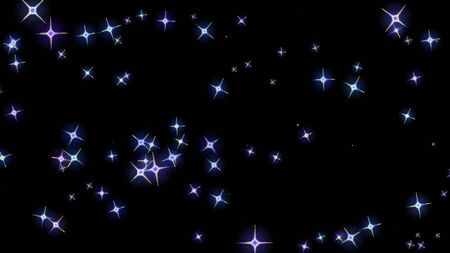 flashing stars, starry sky appear and disappear on a black background Imagens - 131503022