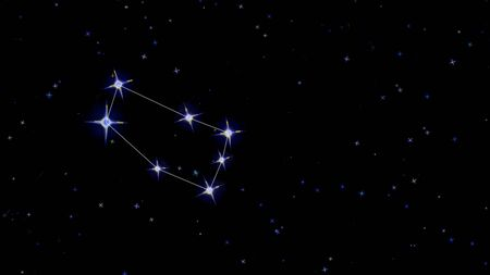 constellation zodiac gemini, stars on a black background starry sky Imagens