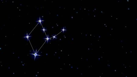 constellation of the zodiac virgo, stars on a black background starry sky