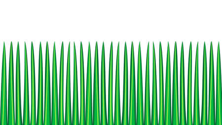 green grass seamless border, isolated over white illustration
