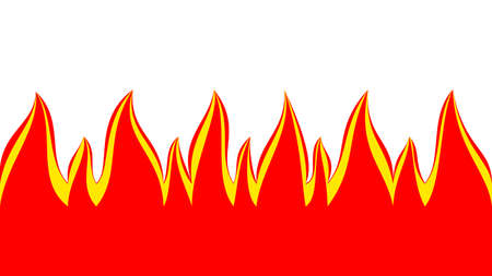 Red fire isolated illustration Imagens